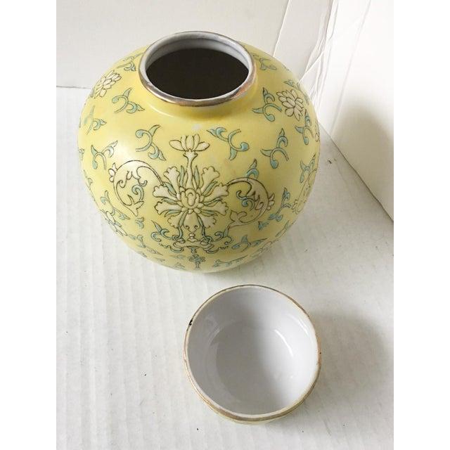 Pretty Little Yellow Hong Kong Ginger Jar - Image 4 of 7