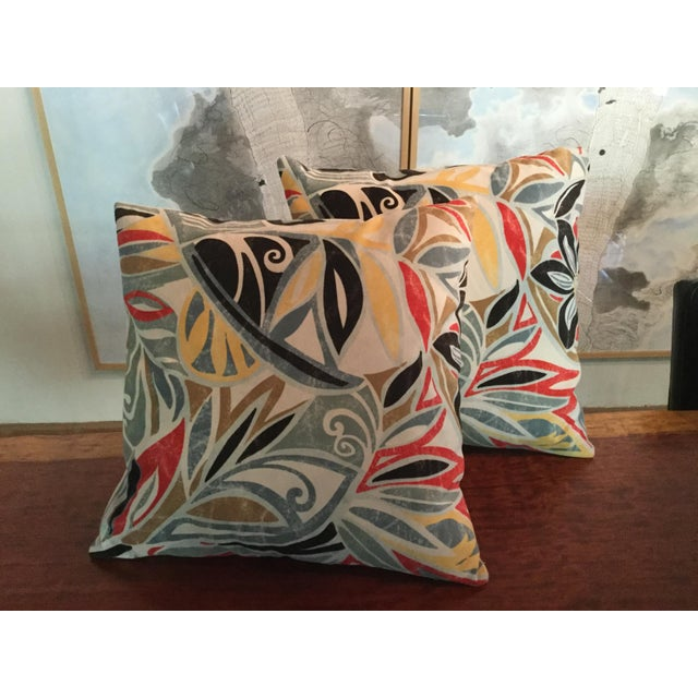 Mid-Century Modern Ultra Suede Pillows - a Pair For Sale - Image 4 of 4