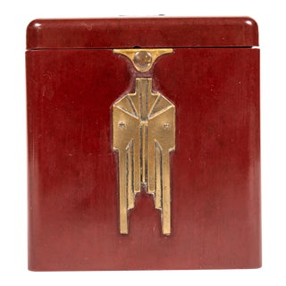Vintage Demley Art Deco Red Cigarette Box For Sale