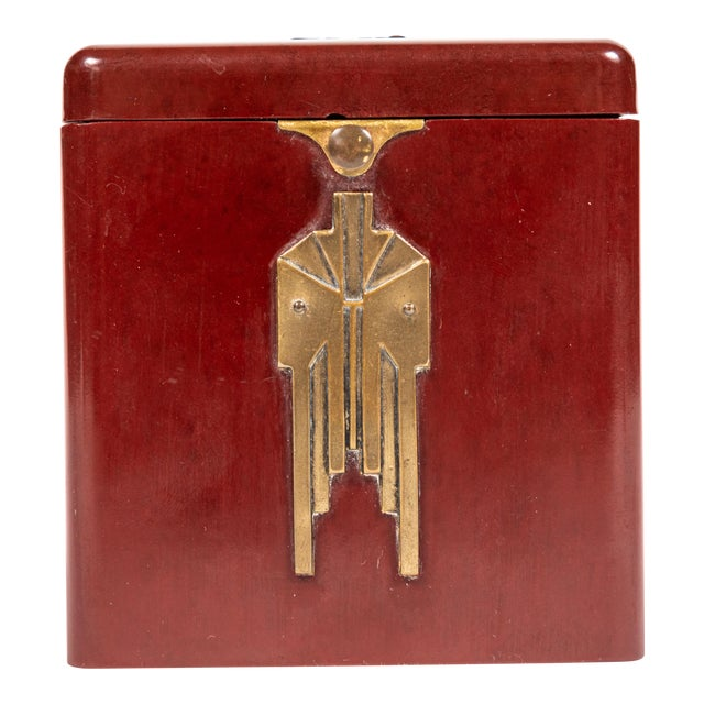 Vintage Demley Art Deco Red Cigarette Box For Sale