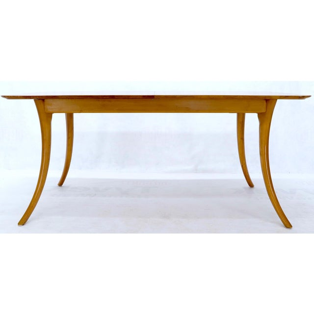 Mid-Century Modern Gibbings for Widdicomb Klismos Style Dining Table with Two Extension Boards For Sale - Image 3 of 13