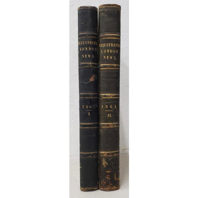 Two Volumes of the Illustrated London News 1861 and 1867 Bound volumes from 1861 and 1867. 1861 is volume II 1867 is...