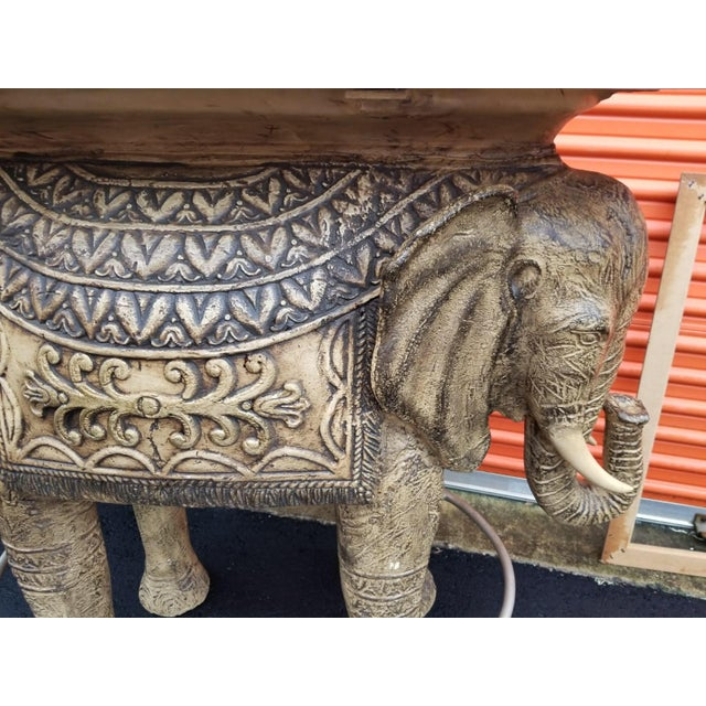 Metal Boho Chic Style Elephant Bar/Table For Sale - Image 7 of 9