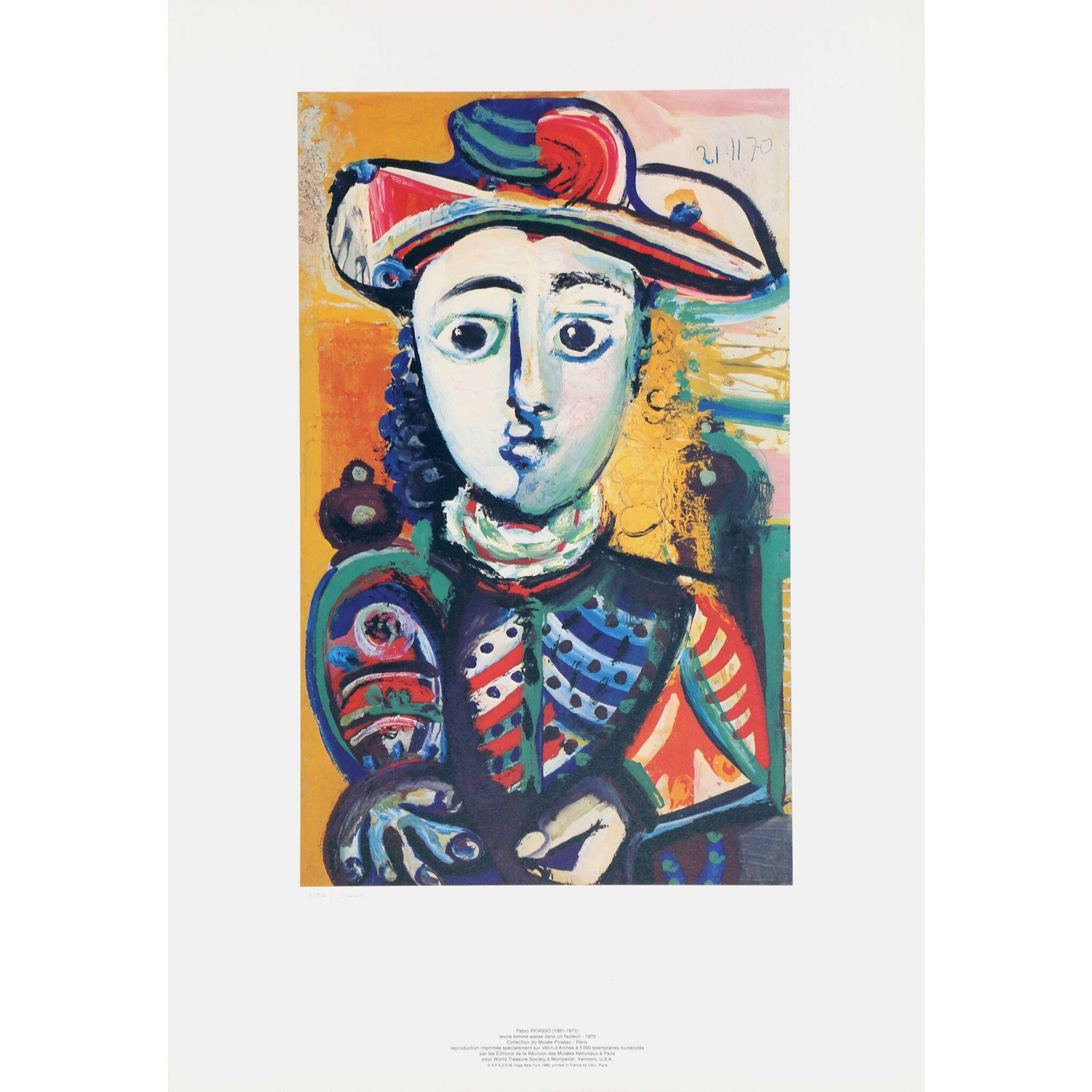 Pablo Picasso Quot Jeuene Femme Assise Dans Un Fauteuil
