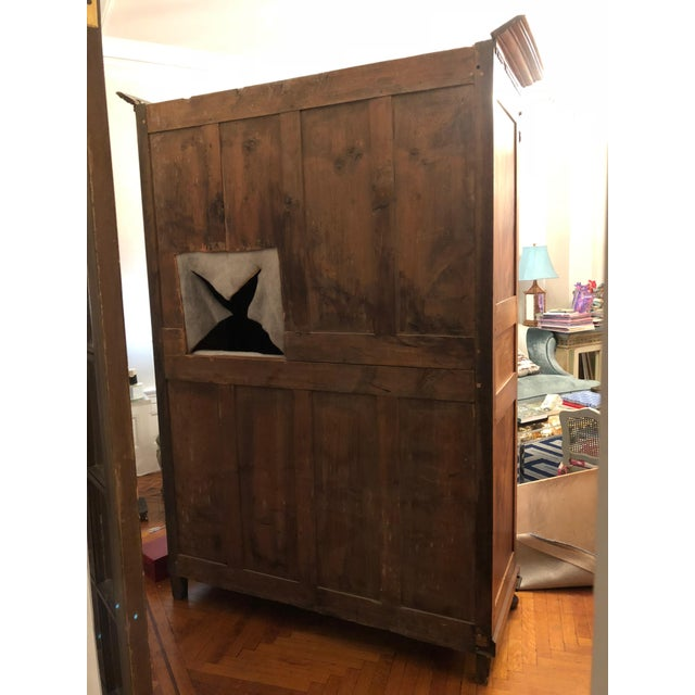 19th Century Walnut Armoire For Sale - Image 4 of 13