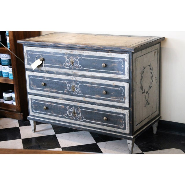 French Antique Painted Dresser - Image 2 of 6 - French Antique Painted Dresser Chairish