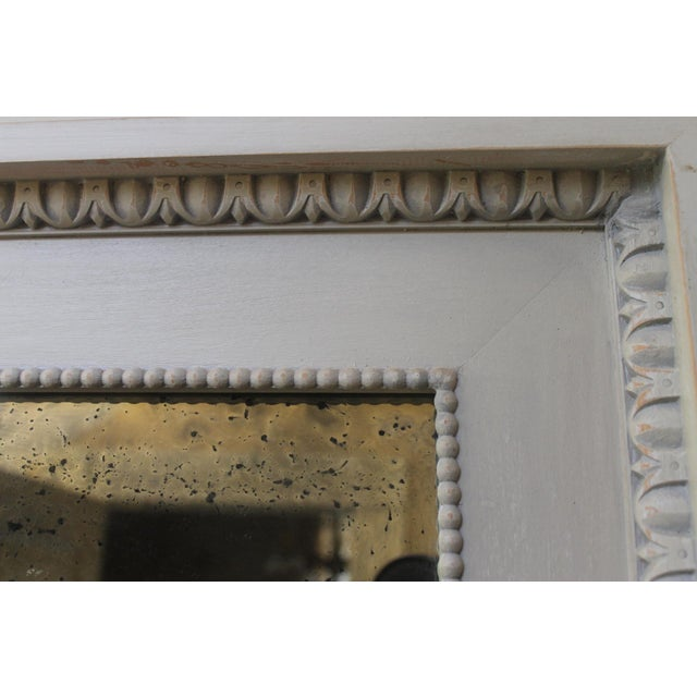 Figurative Swedish Style Dove Gray Trumeaux Wall Mirror For Sale In New Orleans - Image 6 of 10