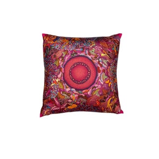 """Au Coeur De La Vie"" Hermès Silk Scarf Pillow For Sale"