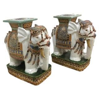 Vintage Elephant Garden Stools - A Pair