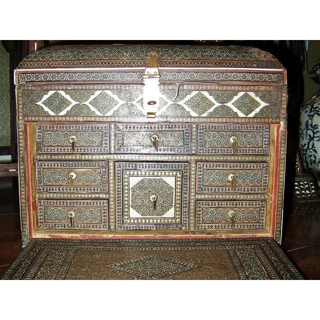 18c Indo Portugese or Persian Vargueno Mini Cabinet For Sale In Dallas - Image 6 of 13