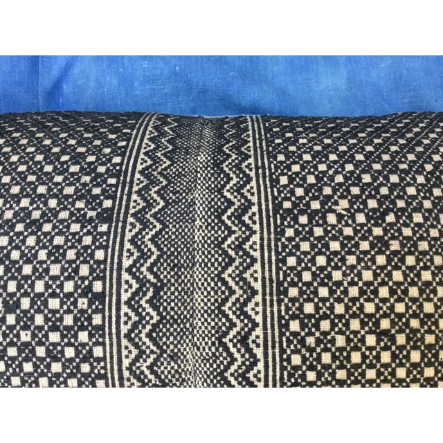 Tribal Wedding Quilt Textile Pillow - Image 3 of 6