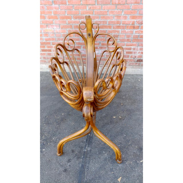 Wood 19th Century Beautiful Curvy Swinging Baby Cradle For Sale - Image 7 of 10