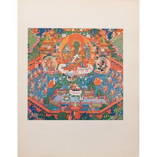 1954 the Paradise of the Tara Goddess, Original Parisian Photogravure After 18th C. Tibetan Painting For Sale
