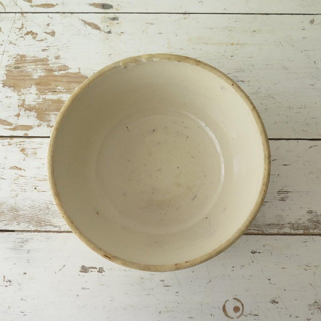 Antique Stoneware Mixing Bowl For Sale - Image 5 of 7
