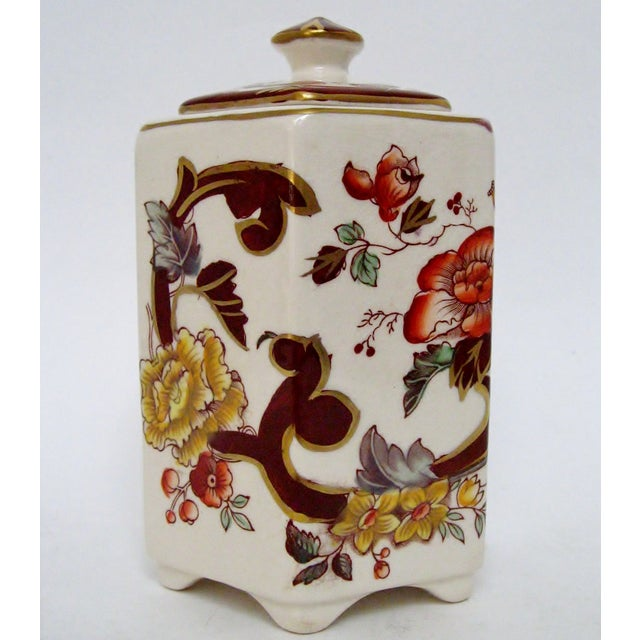 Asian Mason's Ironstone Tea Caddy For Sale - Image 3 of 8