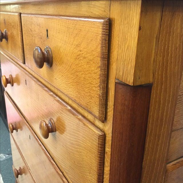 Vintage Oak 5 Drawer Dresser - Image 6 of 6