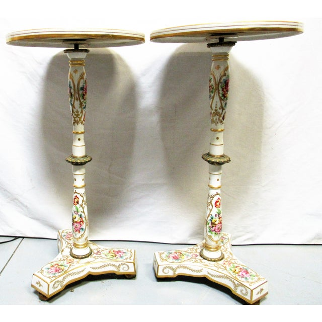 French Sevres Style Tables - A Pair - Image 5 of 7