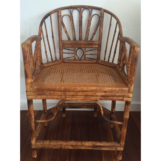 This amazing bamboo accent chair with cane seat will be an amazing addition to your space. Beautiful color and texture...