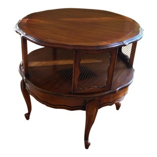 Round Wooden Dessert Table