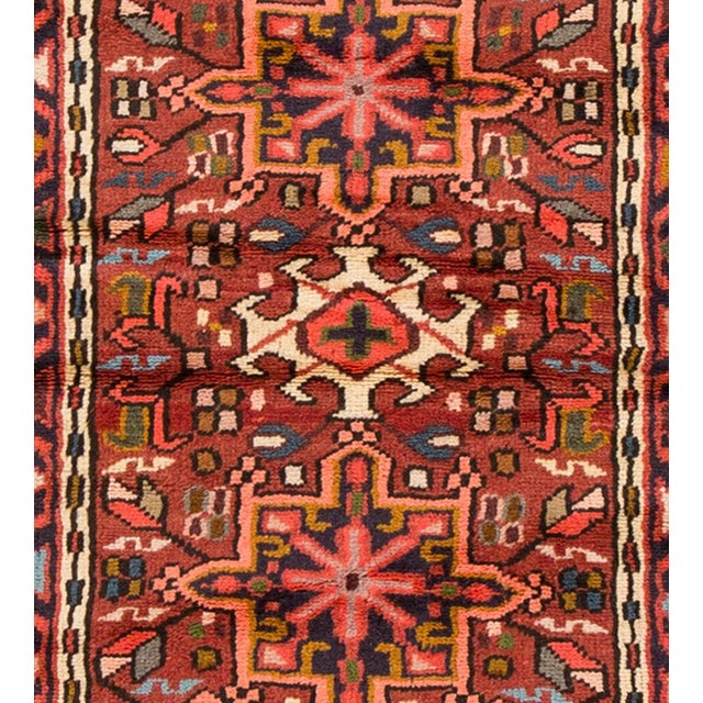"Apadana - Vintage Persian Heriz Rug, 2'3"" x 6'10"" For Sale - Image 4 of 5"