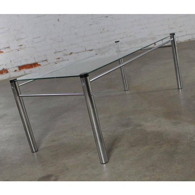 James David Furniture Attributed Chrome & Glass Coffee Table - Image 6 of 12