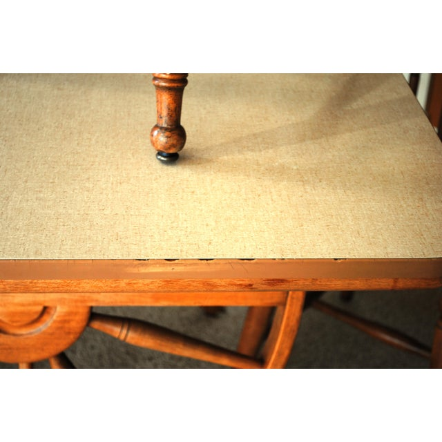 1950's Southwestern Baumritter Ethan Allan Wagon Wheel Dining Set - 5 Pieces For Sale - Image 10 of 13
