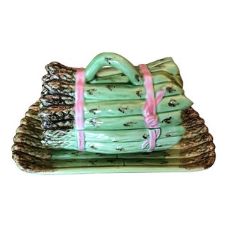 Majolica Asparagus Tureen-Bordallo Pinheiro For Sale
