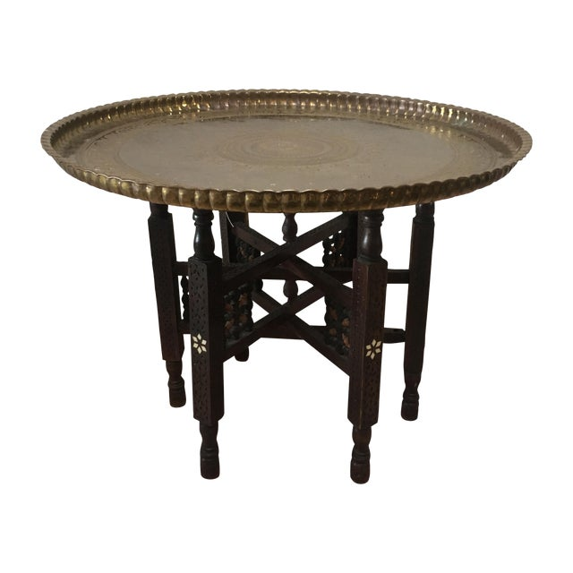 Vintage Moroccan Tray Table - Image 1 of 5