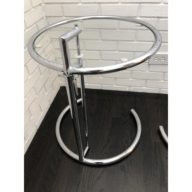 Eileen Gray Eileen Gray Inspired Chrome End Tables - a Pair For Sale - Image 4 of 10