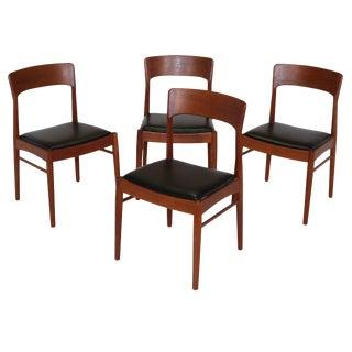 4 Danish Teak Chairs For Sale