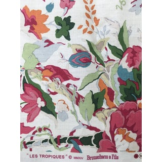 Brunschwig Fils Les Tropiques Horse Shoe Bay Fabric For Sale