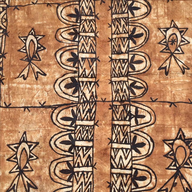 Tapa Cloth Wall Hanging For Sale - Image 4 of 10