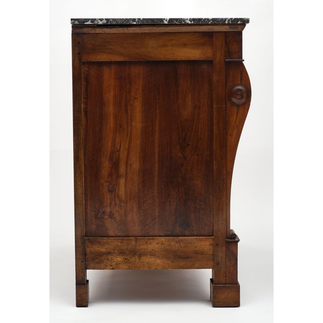 Bronze French Restauration Period Walnut Chest of Drawers For Sale - Image 7 of 10