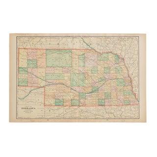 Cram's 1907 Map of Nebraska