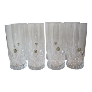 Peill & Putzler Crystal Tall Glasses - Set of 8 For Sale