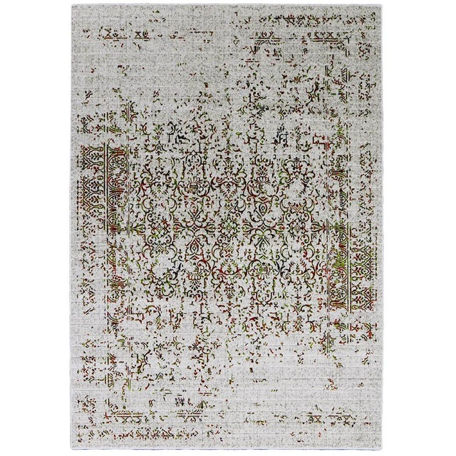 Contemporary Orange & Green Distressed Rug - 8' x 10'7'' - Image 2 of 2