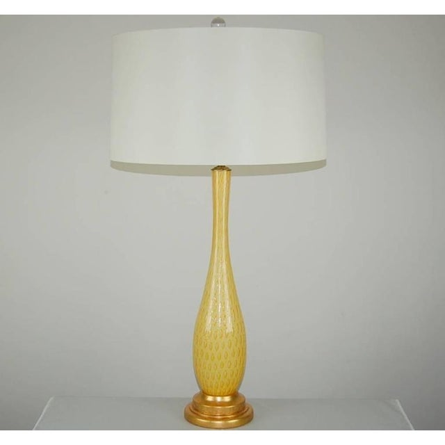 Hollywood Regency Galliano Ferro Vintage Murano Glass Table Lamp Orange For Sale - Image 3 of 10