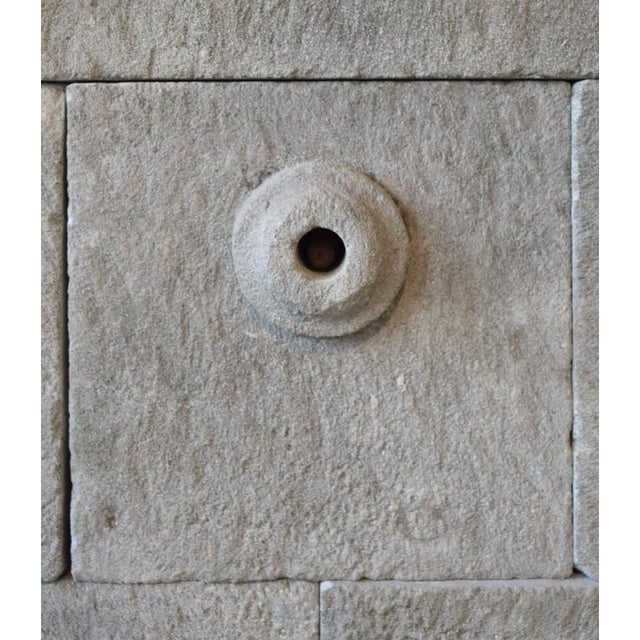 Limestone Wall Fountain - Image 6 of 6