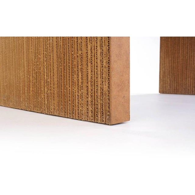 Brown Rare Frank Gehry Easy Edges Cardboard Desk in Excellent Condition For Sale - Image 8 of 8