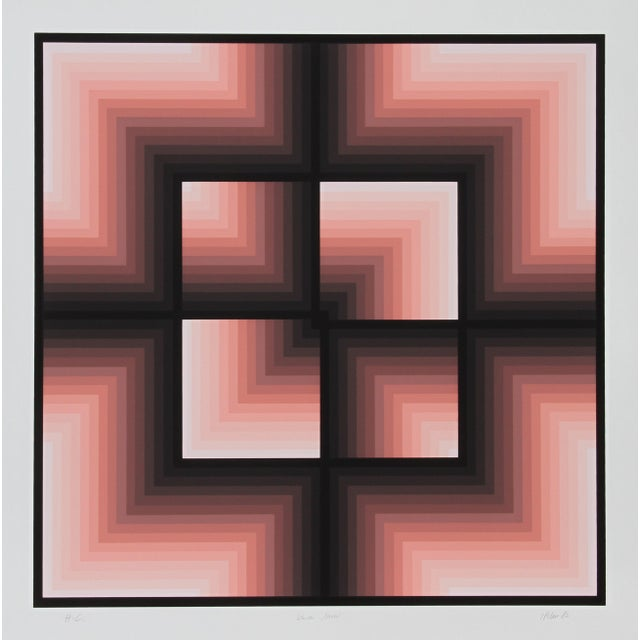 "Jurgen Peters, ""Window Motif"", Op Art Serigraph For Sale - Image 4 of 4"