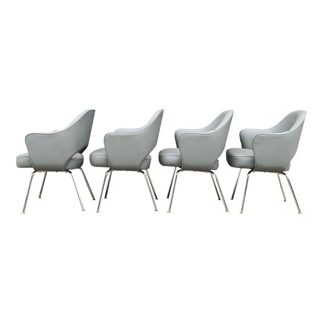 Mid-Century Modern 1960s Mid-Century Modern Eero Saarinen for Knoll Executive Chairs (11 Avail) For Sale - Image 3 of 6