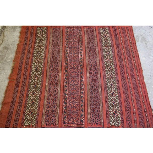 "Vintage Turkish Aztec Print Rug - 5'1"" x 5'3"" - Image 4 of 8"