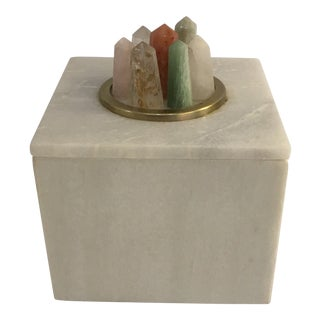 Crystallized Stone Box For Sale