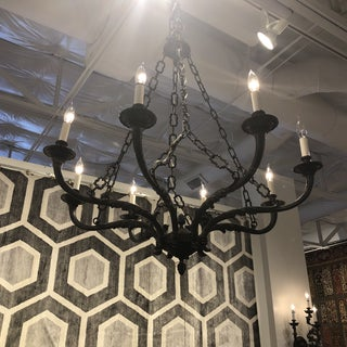 Vintage Italian Eight Light Pewter Chandalier Preview
