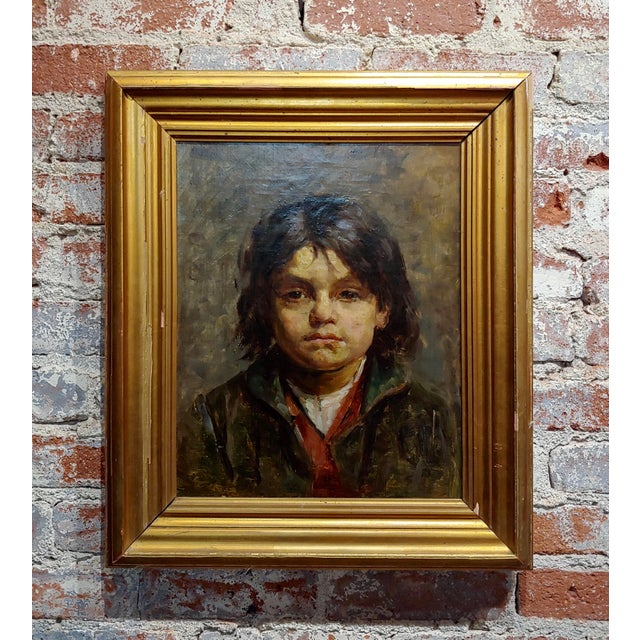 Portrait of a Brat - 19th Century German Oil Painting For Sale - Image 9 of 9