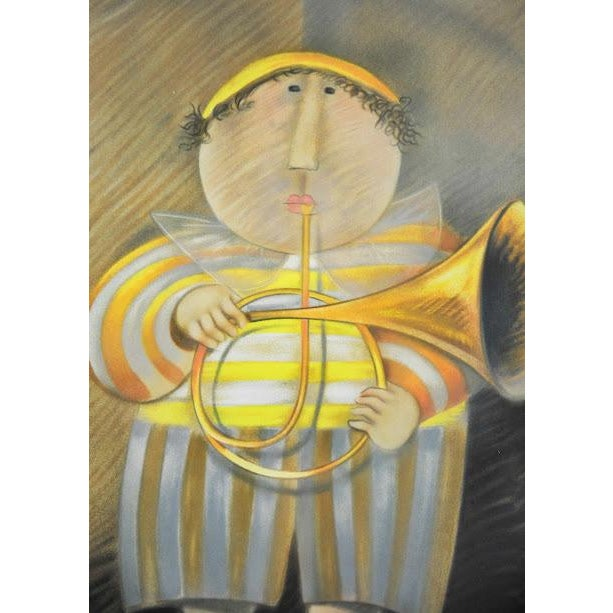 """Signed & Numbered Lithograph """"French Horn Player"""" by Graciela Rodo Boulanger - Image 4 of 9"""