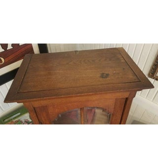 Antique Oak Display Cabinet Preview