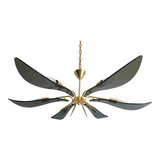 Italian Fontana Arte Chandelier For Sale