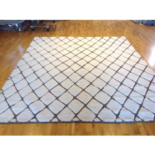 Luxurious Ivory Diamonds Rug - 8′ × 10′ Preview
