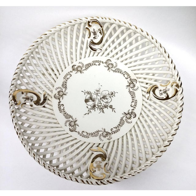 Spanish Lattice Weave Ceramic Dish - Image 8 of 11